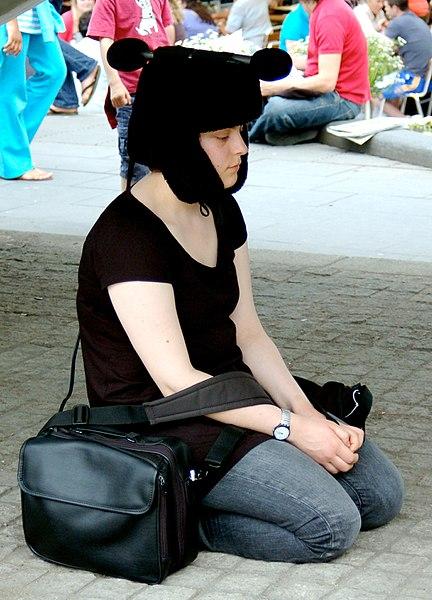 File:A young woman meditating.jpg