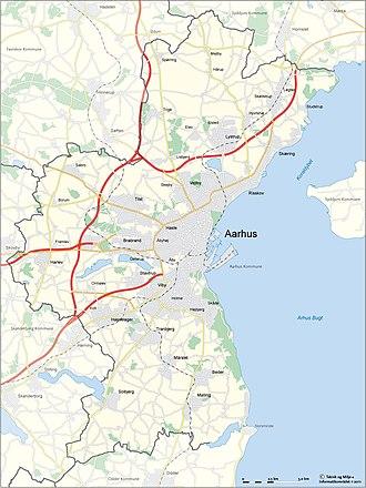 Aarhus Municipality - Municipal map
