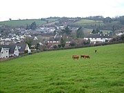 The village of Abbotskerswell is surrounded by fields.