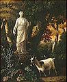Abraham Begeyn Paysage avec des chevres au pied d'une statue.jpg