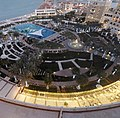 Abu Dhabi - The Ritz-Carlton Abu Dhabi, Grand Canal - فندق ريتز كارلتون أبو ظبي، القناة الكبرى - pool area at night - منطقة حمام السباحة ليلا - panoramio (1).jpg
