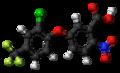 Acifluorfen molecule ball.png
