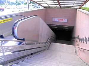Kurtuluş, Seyhan - Metro entrance