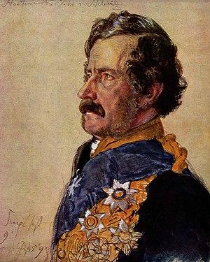 Marie von Schleinitz - Count Alexander Schleinitz, von Schleinitz's first husband; portrait by Adolph Menzel, 1865