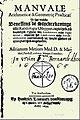 Adriaan Metius - Manuale Arithmeticae et Geometricae Practicae, 1633 - titelpagina.jpg