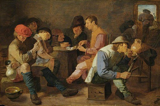 Adriaen Brouwer - Boors Smoking and Drinking NTIV HAMH 172301