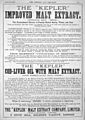 Advert for Kepler, Chemist & Druggist, 1879. Wellcome L0030333.jpg