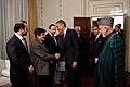 Afghan delegation greets Barack Obama in Kabul 2012.jpg