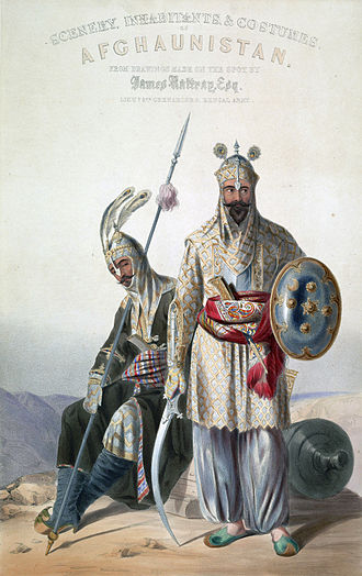 Herat - Afghan royal soldiers of the Durrani Empire.