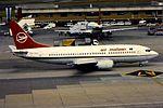 Air Malawi B737-300 7Q-YKP at JNB (16125562715).jpg