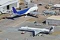 Airbus A340-313X (CC-CQE) & Douglas MD-83 'N619SC' (13638892764).jpg