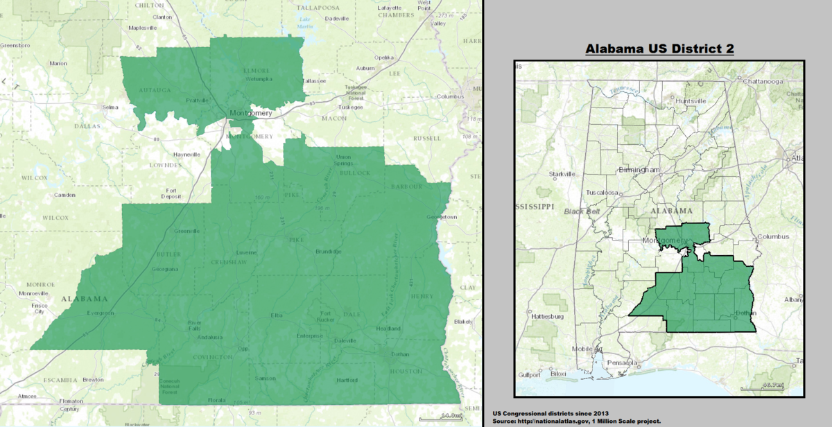 Alabamas Nd Congressional District Wikipedia - Alabama on the us map