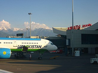 Almaty International Airport - Apron view