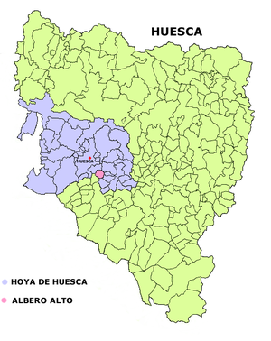 Albero Alto - Image: Albero Alto mapa