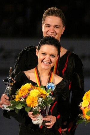 Alexandra Zaretsky - Alexandra and Roman Zaretsky in 2009