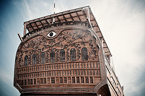 Baghlah - The ornate stern of a baghlah in Kuwait