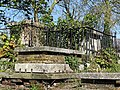 All Hallows Church Tottenham London England - churchyard chest tomb overgrown 4.jpg