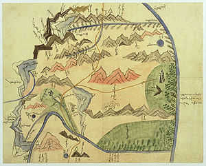 Altai Uriankhai - Map of the Jütgelt Gün's hoshuu (banner) of the Altai Urianhai in western Mongolia.