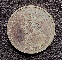 5-DM-Gedenkmünze zum 200sten Todestag von Friedrich dem Großen (Quelle: Wikimedia)