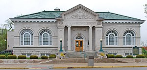 National Register of Historic Places listings in Ionia County, Michigan - Image: Alvah N Belding Memorial Library Belding Mi