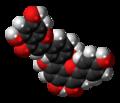 Amentoflavone molecule spacefill.png