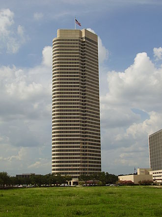 Continental Airlines - The America Tower in Neartown Houston, Continental's headquarters from 1983 to 1998