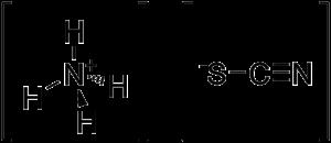 Ammonium thiocyanate - Image: Ammonium thiocyanate