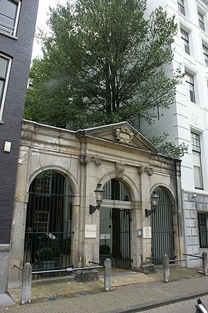 Stadsschouwburg - Keizersgracht 384, the old entrance gate to the theatre