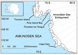 Amundsen Sea - The Amundsen Sea area of Antarctica
