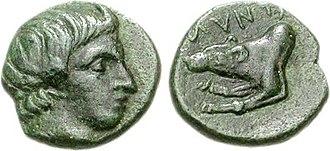 Argead dynasty - Image: Amyntas II, Bronze, c.395 393 BC, HGC 3 I 820