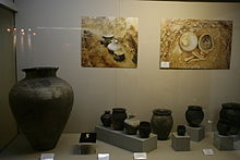 Ancient Mongolian pottery - National Museum of Mongolian History.jpg