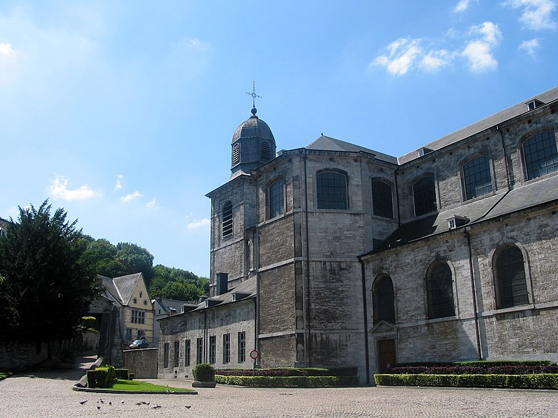 Andenne (Belgium), the St. Begge collegiate church (1773).