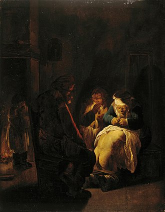 Andries Both - Peasants in an interior