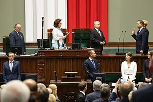 Andrzej Duda - Andrzej Duda taking the oath of office, 6 August 2015