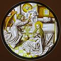 Annunciation, Lower Rhine, c. 1520, stained glass - Museum Schnütgen - Cologne, Germany - DSC09844.jpg