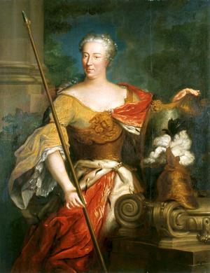 Elżbieta Sieniawska - Portrait of Elżbieta Sieniawska as Minerva