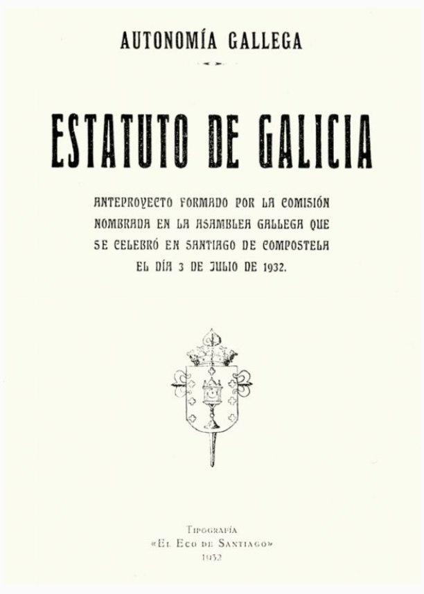 Anteproyecto Estatuto de Galicia, 1932