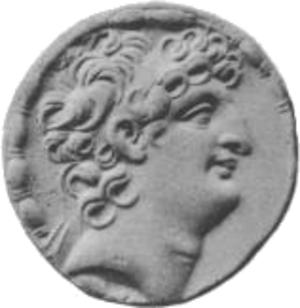 Antiochus VIII Grypus - Image: Antiochus VIII face