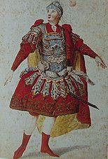 Anton Raaf as Idomeneo at the world premiere