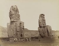 Antonio Beato, Colosses de Memnon, 19th century.jpg