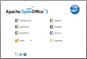 Apache OpenOffice 3.4 Start Center.png