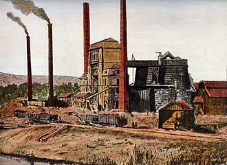 Steel industry in Luxembourg - The Metz foundry in the 1870s, which later became ARBED Esch-Schifflange