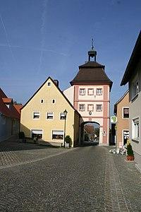 Arberg, Marktplatz 1, Torturm.jpg