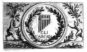 Accademia degli Arcadi - Stamp of the Academy of Arcadia