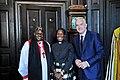 Archbishop of York, Rev Grace Sentamu-Baverstock, Huw Edwards (28449165817).jpg
