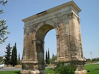 Arc de Berà triumphal arch in Tarraco, Spain