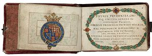 Esther Inglis - The dedicatory page of Argumenta psalmorum Davidis, to Prince Henry, 1608