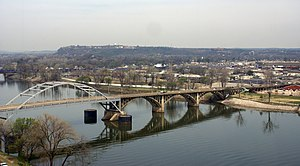 North Little Rock, Arkansas - Arkansas River, looking across it to North Little Rock