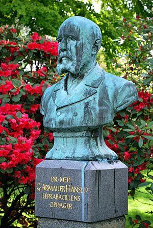 Gerhard Armauer Hansen - Bust of Dr. Armauer Hansen, Botanical garden, University of Bergen, Norway