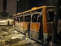 Armenian Presidential Elections 2008 Protest Day 11 - 1215AM Police transport Bus after 9pm clashes.jpg